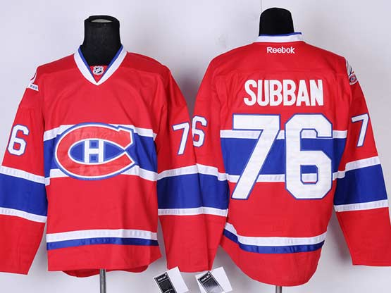 Mens reebok nhl montreal canadiens #76 subban red (ch) Jersey