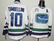 Mens reebok nhl vancouver canucks #10 tambellini white 3rd with a Jersey