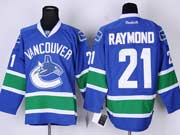 Mens reebok nhl vancouver canucks #21 raymond blue Jersey