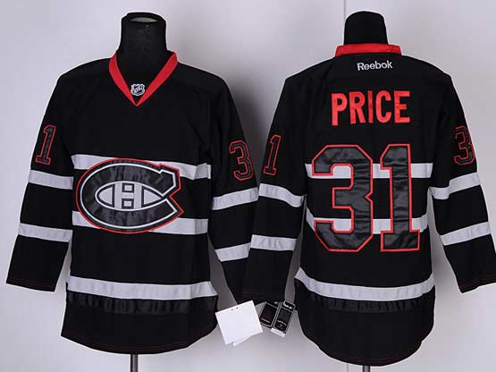 mens reebok nhl Montreal Canadiens #31 Carey Price black ice (ch) jersey