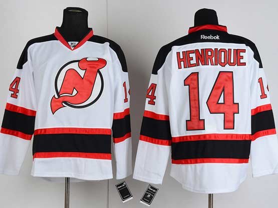 Mens reebok nhl new jersey devils #14 henrique white Jersey