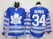 Mens reebok nhl toronto maple leafs #34 reimer blue (2014 winter classic) Jersey