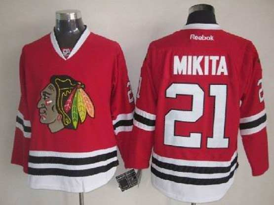Mens reebok nhl chicago blackhawks #21 mikita red Jersey