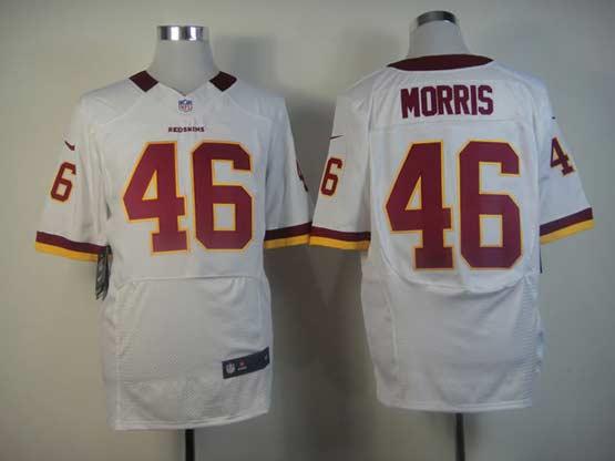 Mens Nfl Washington Redskins #46 Morris White Elite Jersey