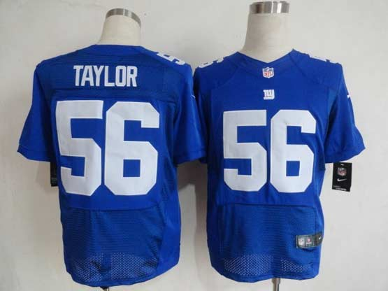 Mens Nfl New York Giants #56 Taylor Blue Elite Jersey