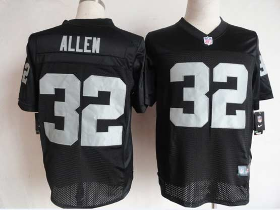 Mens Nfl Oakland Raiders #32 Allen Black Elite Jersey