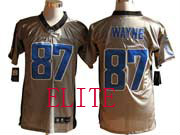 Mens Nfl Indianapolis Colts #87 Wayne Gray Shadow Elite Jersey