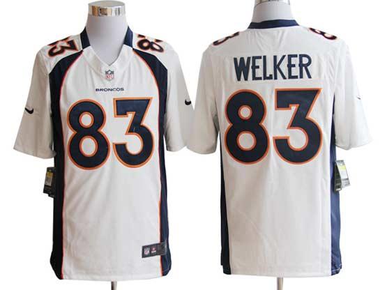 Mens Nfl Denver Broncos #83 Welker White Game Jersey
