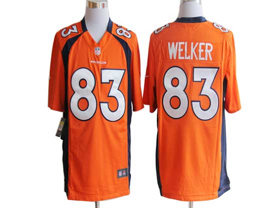 Mens Nfl Denver Broncos #83 Welker Orange Game Jersey