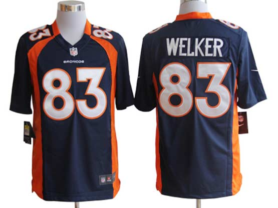 Mens Nfl Denver Broncos #83 Welker Blue Game Jersey
