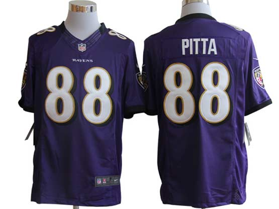 Mens Nfl Baltimore Ravens #88 Pitta Purple Limited Jersey