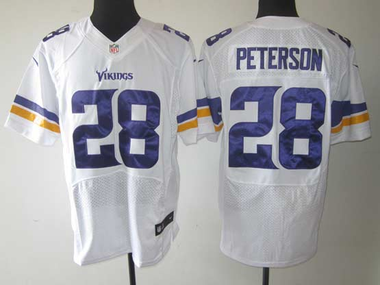 Mens Nfl Minnesota Vikings #28 Peterson White (2013 New) Elite Jersey