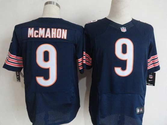 Mens Nfl Chicago Bears #9 Mcmahon Blue Elite Jersey