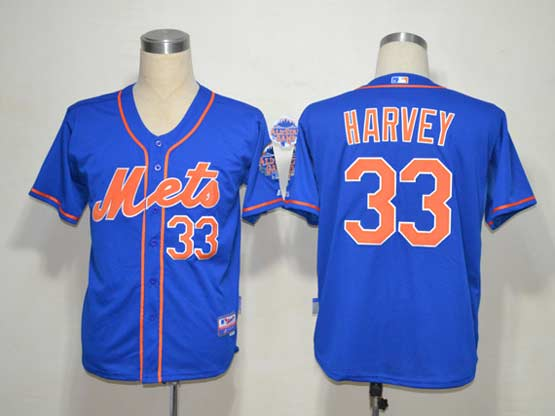 Mens mlb new york mets #33 harvey blue (cool base) Jersey