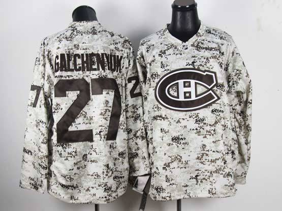 Mens reebok nhl montreal canadiens #27 galchenyuk camo (ch) Jersey
