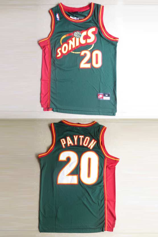 Mens Nba Seattle Supersonics #20 Payton Green Swingman Jersey (m)