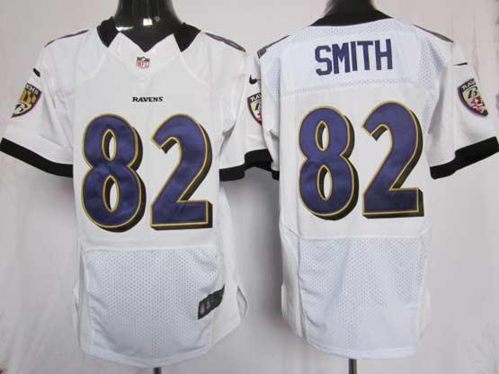 Mens Nfl Baltimore Ravens #82 Torrey Smith White Elite Jersey