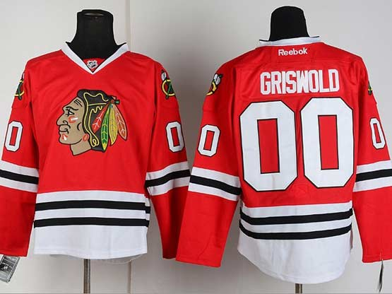 Mens reebok nhl chicago blackhawks #00 griswold red Jersey