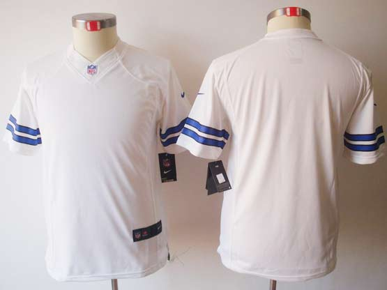 Youth Nfl Dallas Cowboys (blank) White Limited Jersey