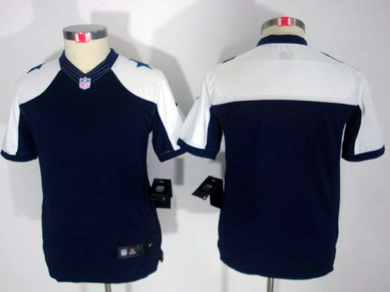 Youth Nfl Dallas Cowboys (blank) Blue Thanksgiving Limited Jersey