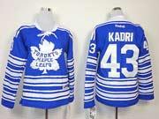 women reebok nhl toronto maple leafs #43 kadri blue (2014 winter classic) Jersey
