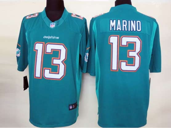 Mens Nfl Miami Dolphins #13 Marino (2013 New) Green Limited Jersey