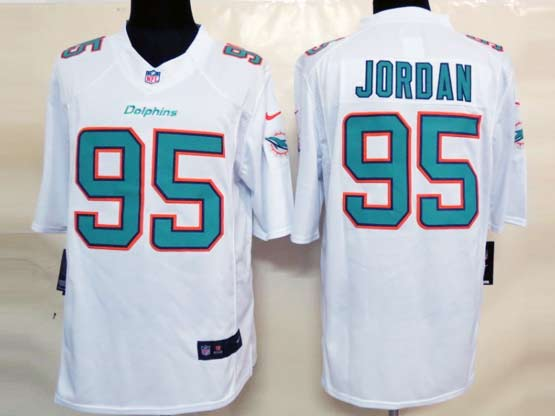 Mens Nfl Miami Dolphins #95 Jordan (2013 New) White Limited Jersey