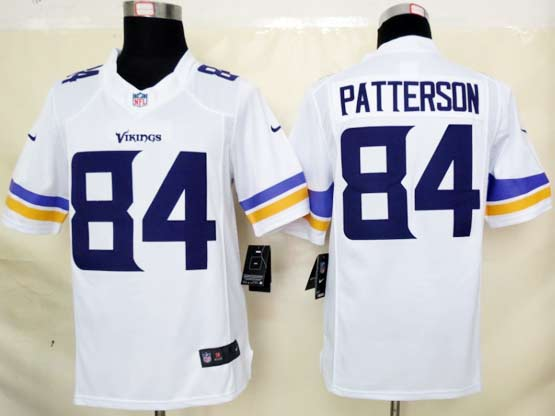 Mens Nfl Minnesota Vikings #84 Patterson (2013 New) White Limited Jersey