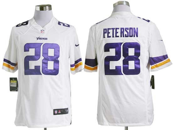 Mens Nfl Minnesota Vikings #28 Peterson (2013 New) White Game Jersey