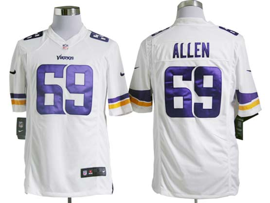 Mens Nfl Minnesota Vikings #69 Allen (2013 New) White Game Jersey