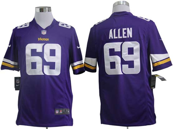 Mens Nfl Minnesota Vikings #69 Allen (2013 New) Purple Game Jersey