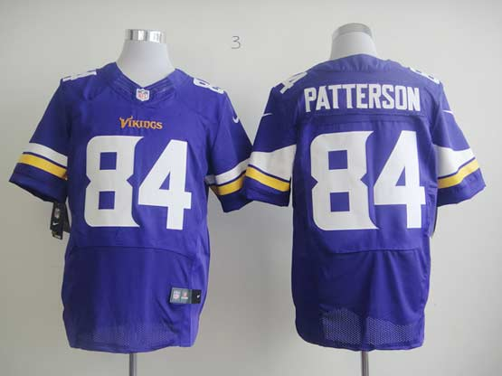 Mens Nfl Minnesota Vikings #84 Patterson Purple (2013 New) Elite Jersey