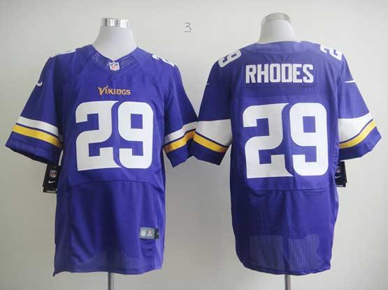 Mens Nfl Minnesota Vikings #29 Rhodes Purple (2013 New) Elite Jersey