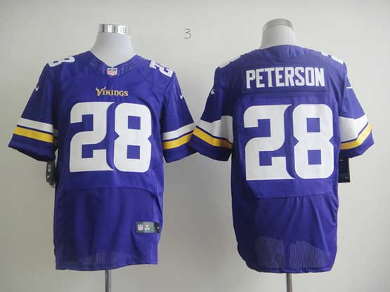 Mens Nfl Minnesota Vikings #28 Peterson Purple (2013 New) Elite Jersey