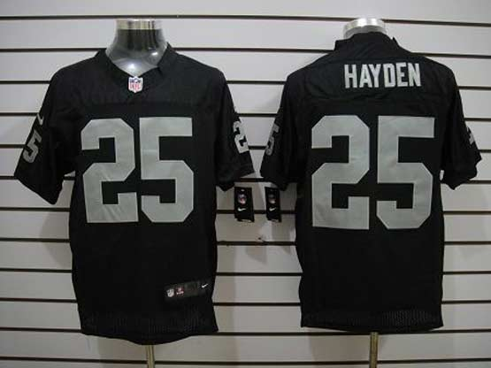 Mens Nfl Oakland Raiders #25 Hayden Black Elite Jersey