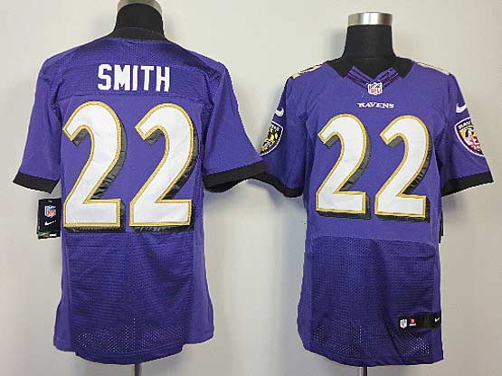 Mens Nfl Baltimore Ravens #22 Jimmy Smith Purple Elite Jersey