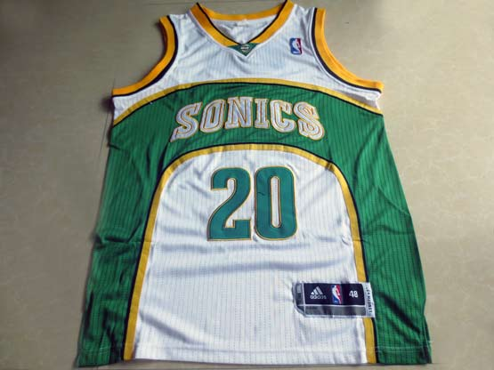 Mens Nba Seattle Supersonics #20 Payton White Adidas Mesh Jersey