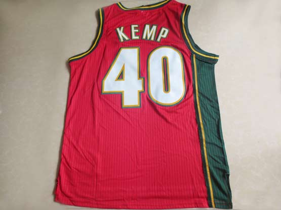 Mens Nba Seattle Supersonics #40 Kemp Red Swingman Jersey (m)