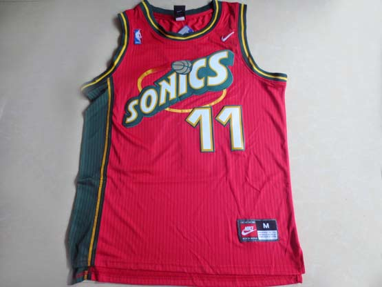 Mens Nba Seattle Supersonics #11 Schrempf Red Swingman Jersey (m)