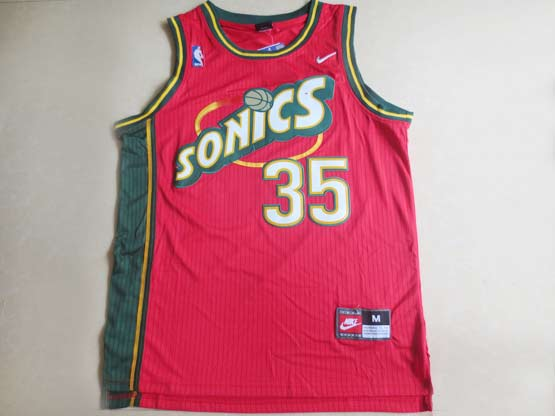 Mens Nba Seattle Supersonics #35 Durant Red Swingman Jersey (m)