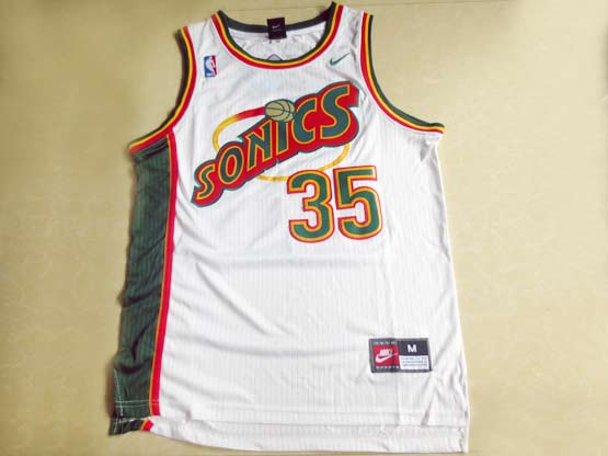 Mens Nba Seattle Supersonics #35 Durant White Swingman Jersey (m)