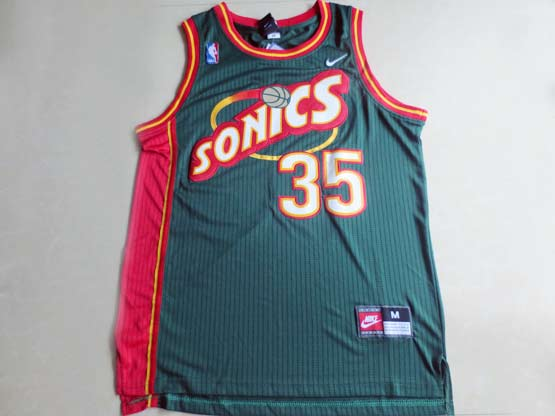 Mens Nba Seattle Supersonics #35 Durant Green Swingman Jersey (m)