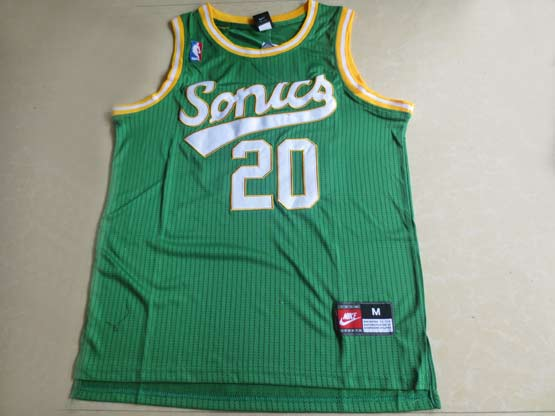 Mens Nba Seattle Supersonics #20 Payton Full Green Jersey (m)