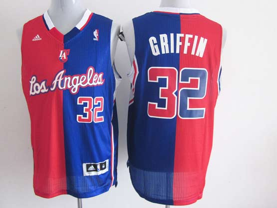 Mens Nba Los Angeles Clippers #32 Griffin Split Blue&red Mesh Jersey