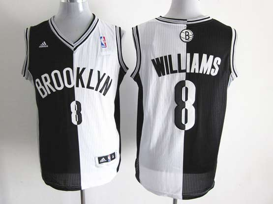 Mens Nba Brooklyn Nets #8 Williams Split White&black Mesh Jersey