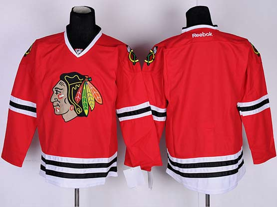 Mens reebok nhl chicago blackhawks (blank) red Jersey