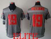 Mens Nfl Tampa Bay Buccaneers #19 Williams Gray Shadow Elite Jersey