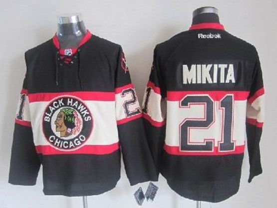 Mens reebok nhl chicago blackhawks #21 mikita black (new third) Jersey