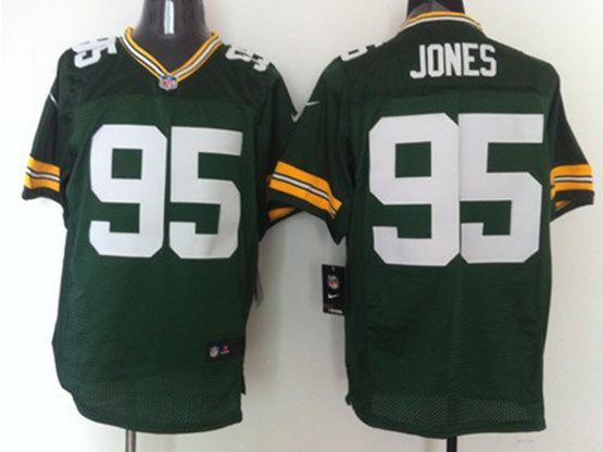 Mens Nfl Green Bay Packers #95 Jones Green Elite Jersey