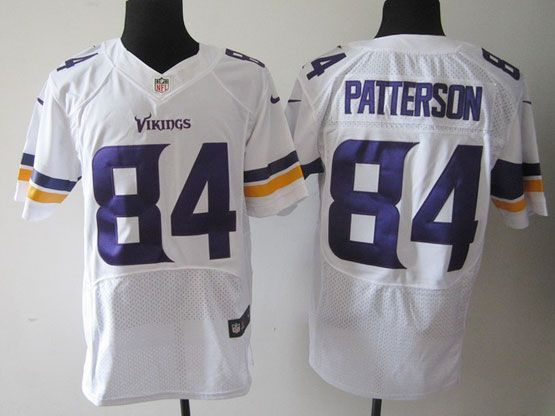 Mens Nfl Minnesota Vikings #84 Patterson (2013 New) White Elite Jersey